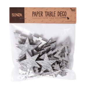 12961 - SENZA Paper Table Deco Silver /30