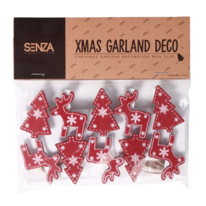 12966 - SENZA Garland with photo clips Red