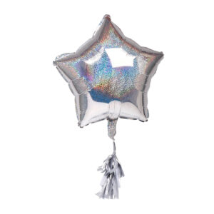 12967 - SENZA Star Foil Balloon Silver